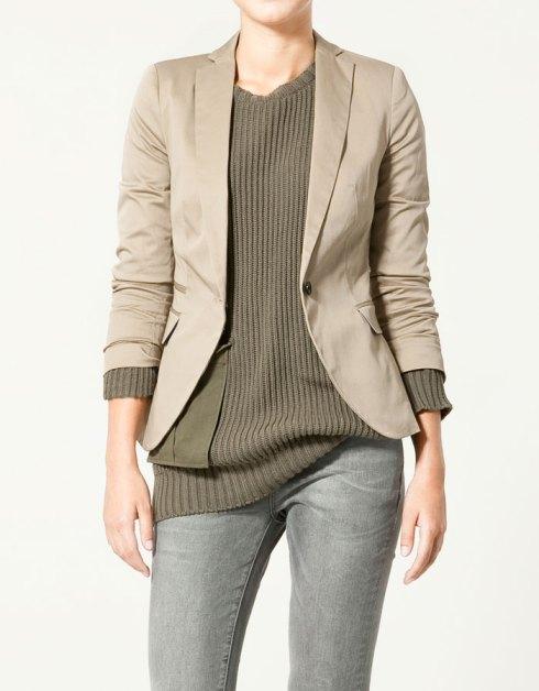 Zara Basic Twill Blazer
