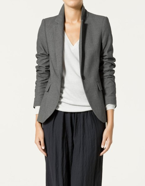 Zara Bird's Eye Blazer