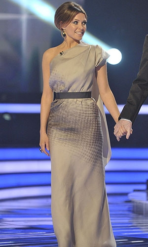 Danii Minogue in Victoria Beckham