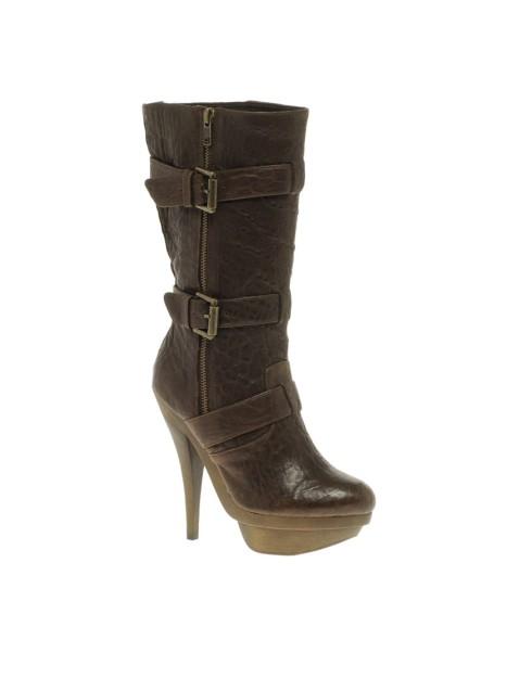 Elizabeth and James Gasp Leather Heeled Shoe