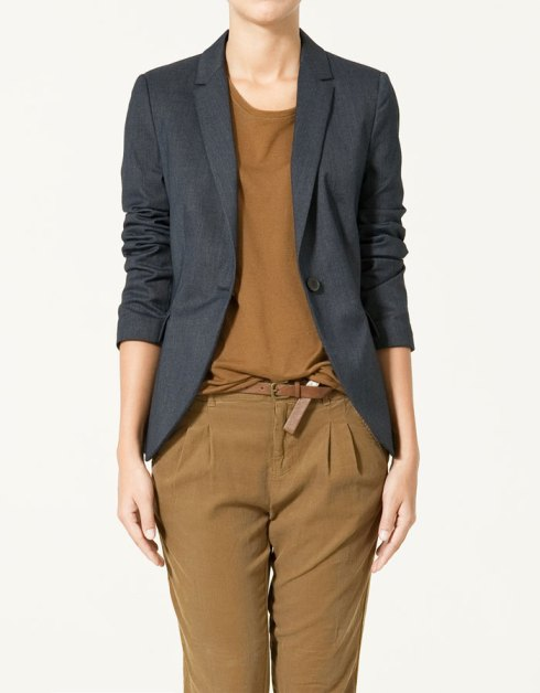 Zara False Plain Blazer