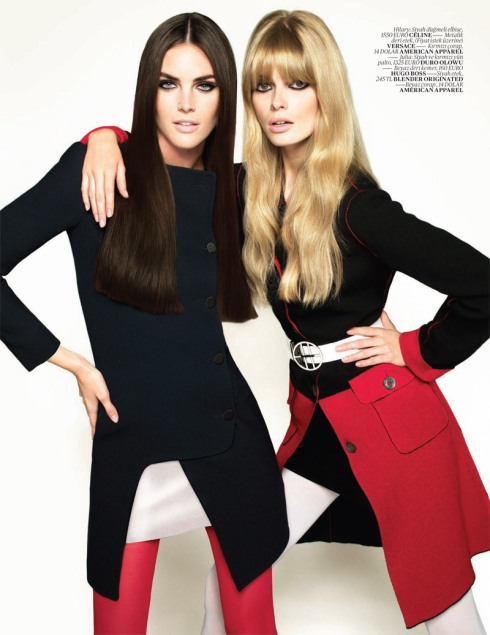 Hilary Rhoda & Julia Stegner for Vogue Turkey October 2010