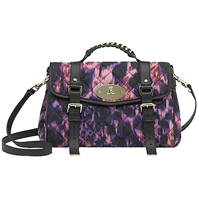 Mulberry_Alexa Plum Loopy Leopard Quilted Satchel