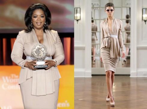 Oprah Winfrey in Victoria Beckham