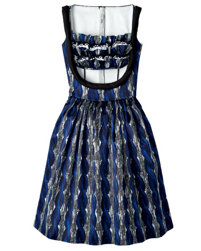 Prada printed satin-dress