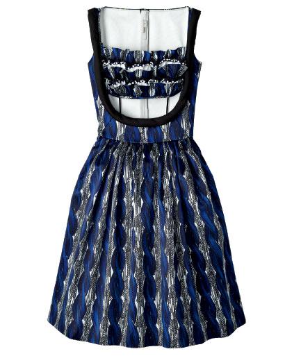 Prada printed satin-dress