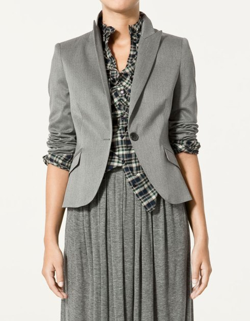 Zara Short Cool Wool Blazer