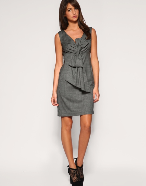 Ted Baker Bow Front V-Neck Dress