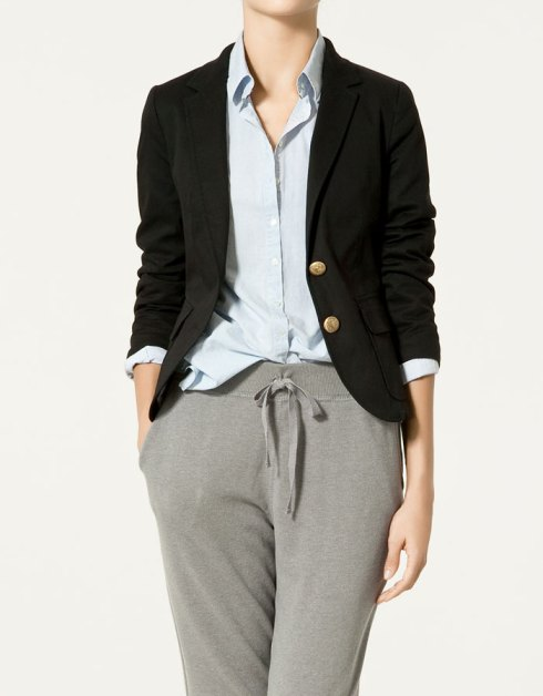 Zara Twill Blazer with Gold Buttons
