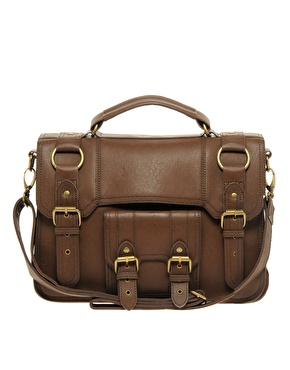 Warehouse buckle satchel bag