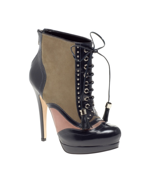 ASOS ATTACK Leather Lace Up Platform Boots  £108
