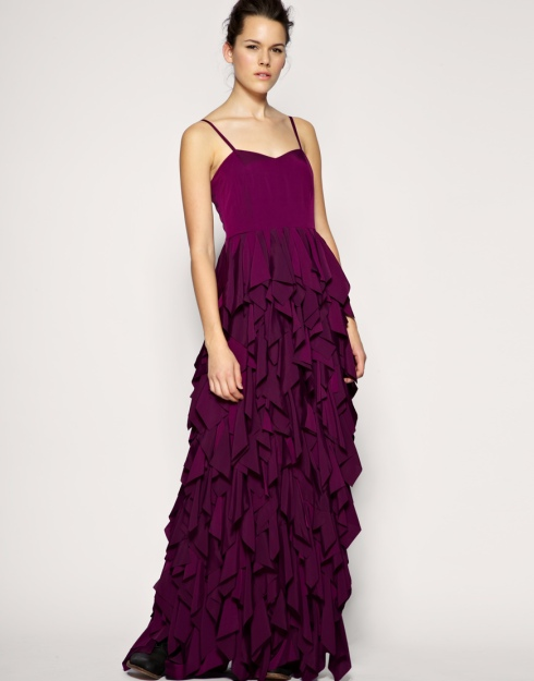 Asos Laser Cut Petal Maxi Dress  £120
