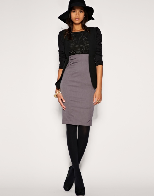Asos Tailored studded top 2-in-1 pencil dress 2