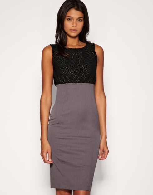Asos Tailored studded top 2-in-1 pencil dress