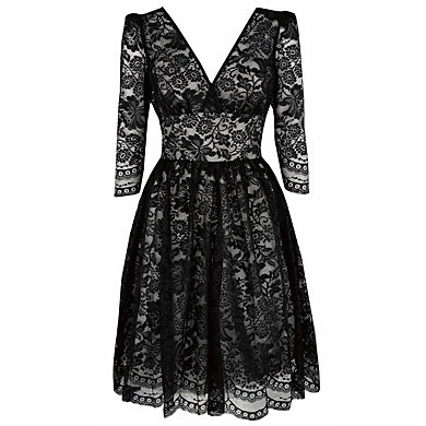 Pearl Lowe for Peacock_Black Lace Prom Dress_£45