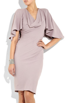 Alexander McQueen_Cape-back crepe dress_£1,245