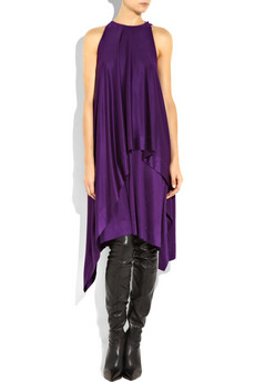 Bottega Veneta_Draped silk-jersey dress_£1680