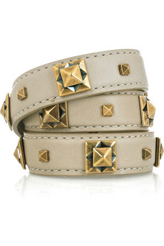 Burberry Prorsum_Leather and brass studded bracelet_£225