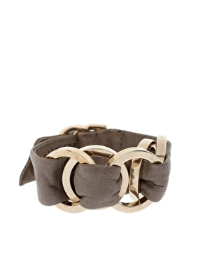 J Dauphin Leather And Brass Fearless Bracelet_£175