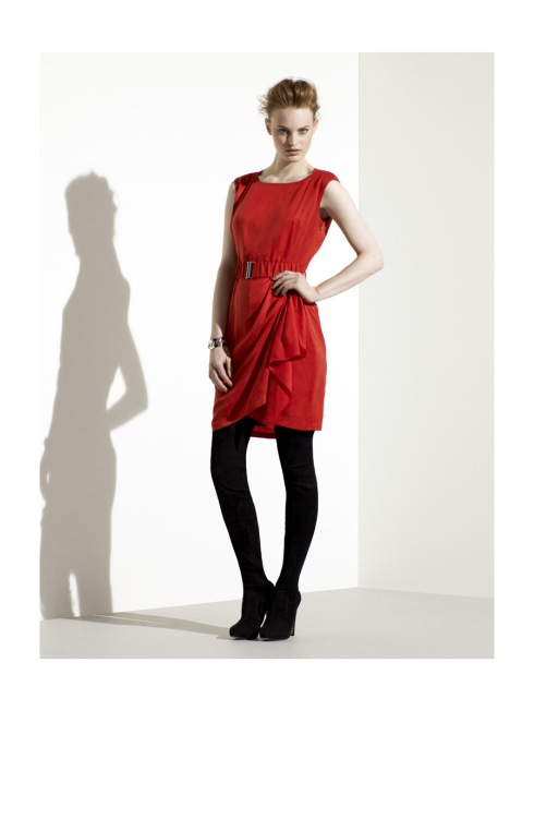 Karen Millen Minimalist draped dress_ £99