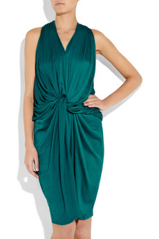 Lanvin Draped washed-satin halterneck dress_£1320