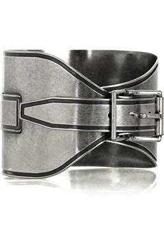 Maison Martin Margiela_Silver-plated buckle bracelet_£275