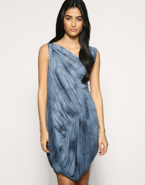 Ringspun Bleach Effect Drape Tunic Dress_£38