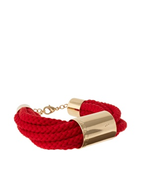 Sabrina Dehoff Cord And Gold Tube Bracelet_£118