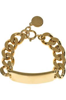 Stella McCartney_Chunky brass ID bracelet_£155
