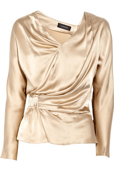 Thakoon Addition_Draped silk-satin top_£385