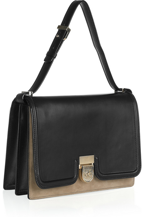 Victoria Beckham_Leather and nubuck shoulder bag_£1700