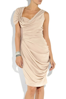Vionnet Ruched crepe and silk dress_£1255