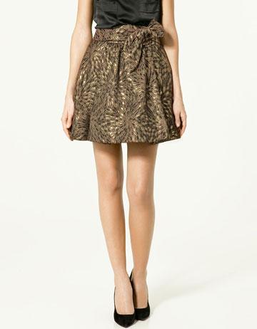 Zara Brocade Skirt with Bow_£25.99