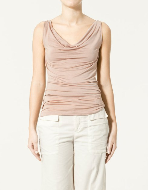 Zara drape neck t-shirt_£19.99_2