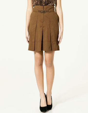 Zara Panel Skirt with Buckle_£25.99