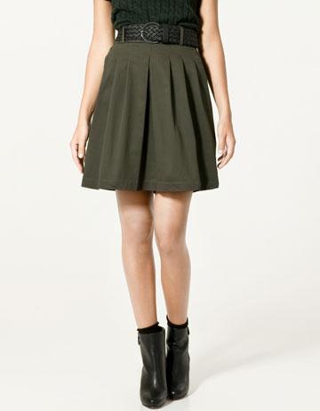 Zara Pleated Skirt with Plaited Belt_£25.99