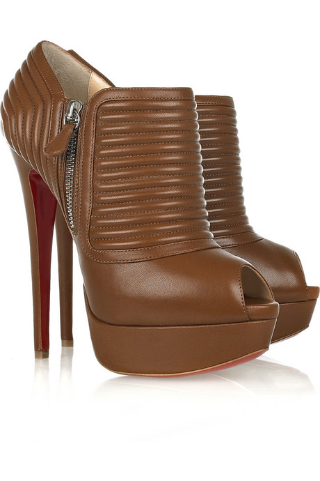 Christian Louboutin_Futura nappa leather peep-toe boots_$1095