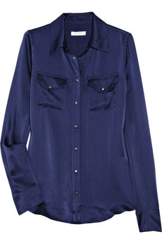 Equipment_Power Ballad washed silk-satin shirt_£230