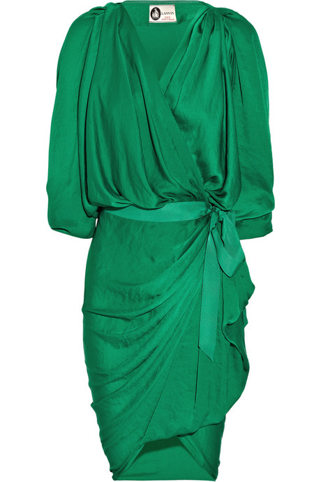 Lanvin_Satin-jersey wrap-front dress_£1200