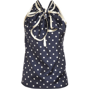 Marc Jacobs Silk Polka dot halter top_$525