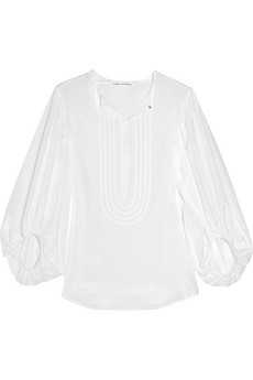 Diane Von Furstenberg_New Sirah cotton and silk-blend blouse_#205