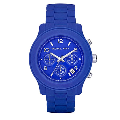 Michael Kors_Blue chronograph ladies' watch_£179