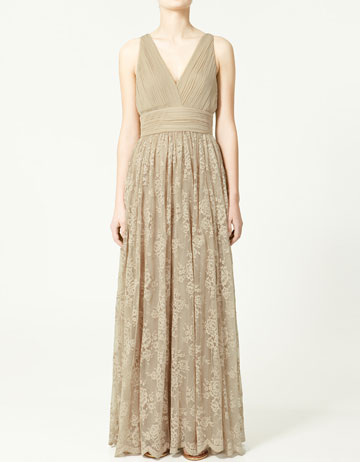 zara long pleated lace dress_£119