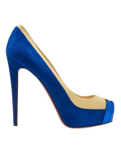 Christian Louboutin 'Mago' Suede and Leather Platform Court Shoes_£395