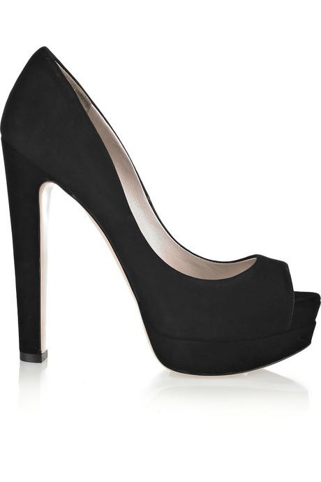 Miu Miu Suede peep toe pumps_£355