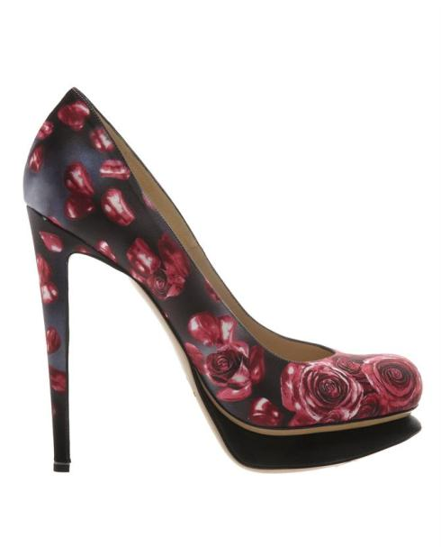 Nicholas Kirkwood Roase Printed Satin Platform Court Shoes £475