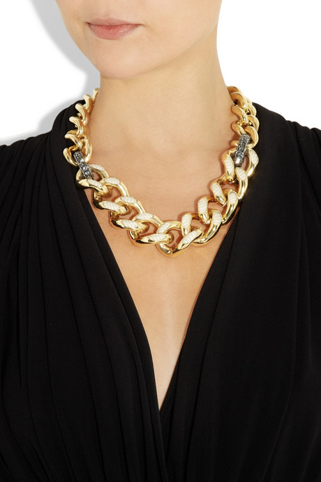Lanvin Swarovski crystal and cord chain necklace £730 pounds