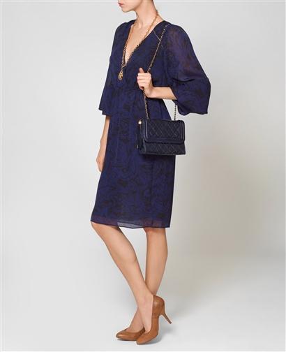 Vintage Chanel Side Tassle Navy Shoulder Bag  £1350