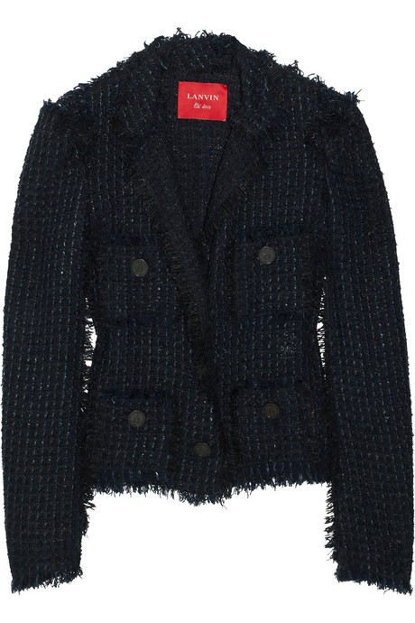Lanvin Frayed bouclé-tweed jacket £2145