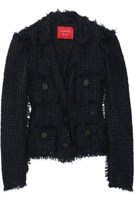 Lanvin Frayed bouclé-tweed jacket £2145